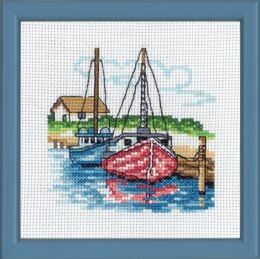 Permin Two Boats  Cross Stitch Kit - 13cm x 13cm