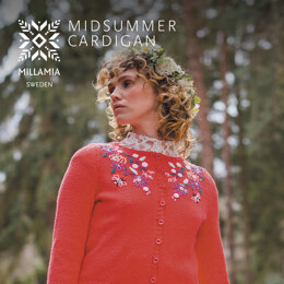 Midsummer Cardigan - Cardigan Knitting Pattern For Women in MillaMia Naturally Soft Cotton by MillaMia
