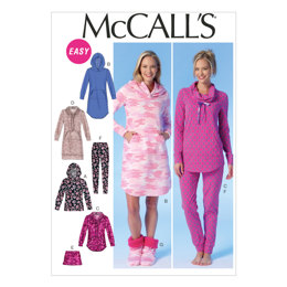 McCall's Misses' Tops, Dress, Shorts, Pants and Slippers M7061 - Sewing Pattern
