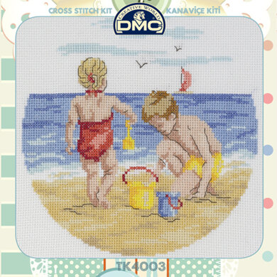 Creative World Of Crafts By The Seaside Cross Stitch Kit (with Sewing Tin)