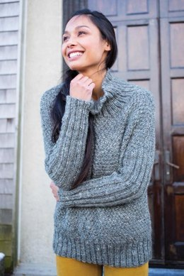 Alwen Sweater in Berroco Inca Tweed - 382-1 - Downloadable PDF