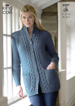 Jacket and Sweater in King Cole Merino Blend DK - 3207