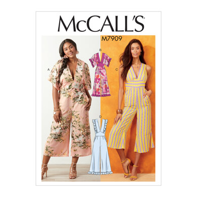 McCall's Misses'/Women's Jumpsuits M7909 - Sewing Pattern