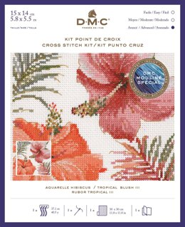 DMC Tropical Blush III Cross Stitch Kit