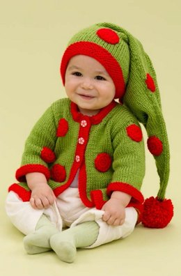 Santa's Baby Elf in Red Heart Soft Solids - LW3696