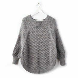 Great Curves Poncho in Caron Simply Soft Tweeds - Downloadable PDF
