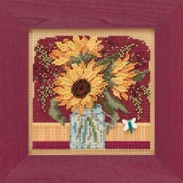 Mill Hill Autumn BB - Sunflower Bouquet - 5.25inx5.25in