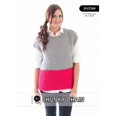 Moss Stitch Tunic in DY Choice Chunky Chain - DYP200