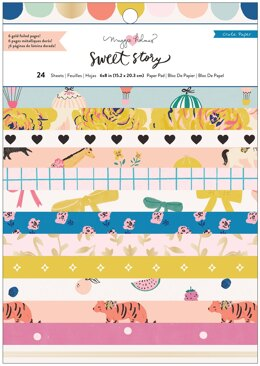 """American Crafts Crate Paper Single-Sided Card Making Pad 6""""X8"""" 24/Pkg - Maggie Holmes Sweet Story"""
