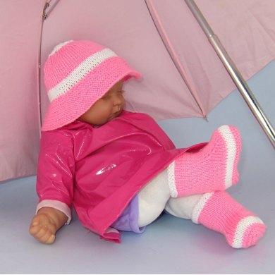 Baby Rain Boots (Booties) and Rain Hat