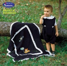White Jersey, Baby Jump Suit And Blue Blanket in Adriafil  Doppio Ritorto 8/3=5 - Downloadable PDF
