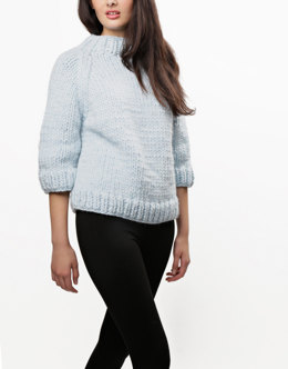 Ashleigh Sweater in Wool and the Gang Crazy Sexy Wool - Leaflet
