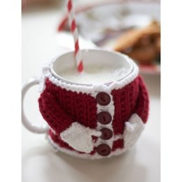 Santa's Mug Cozy in Bernat Super Value