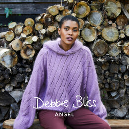 """ Nina "" - Jumper Knitting Pattern For Women in Debbie Bliss Angel by Debbie Bliss"