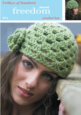Crochet Hat in Twilleys Freedom Wool - 9014