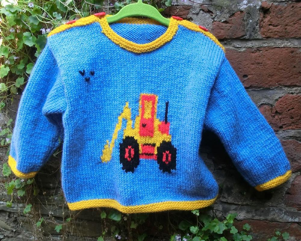Babys sweater with digger motif knitting pattern by ruth maddock babys sweater with digger motif knitting pattern by ruth maddock knitting patterns loveknitting bankloansurffo Image collections