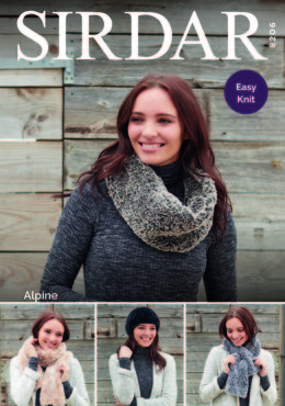 Hat & Scarf in Sirdar Alpine - 8206 - Downloadable PDF