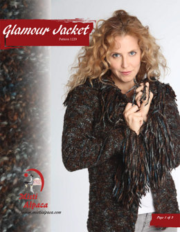 Glamour Jacket in Misti Alpaca Ayllu Overdye Aran - 1229 - Downloadable PDF