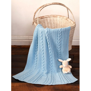 Little Boy Blue Baby Blanket in Caron Simply Soft - Downloadable PDF