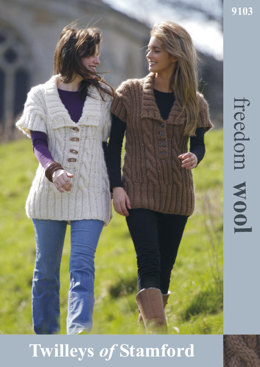 Cable Tunic in Twilleys Freedom Wool - 9103