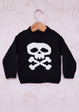Intarsia - Skull & Crossbones Chart - Childrens Sweater
