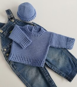 Jamie Baby Sweater and Hat