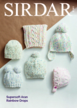 Hats & Scarves in Sirdar Supersoft Aran Rainbow Drops - 5181 - Downloadable PDF