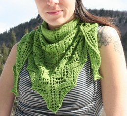Green Hills and Valleys Shawlette