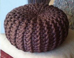Knitted Pouf Floor Cushion
