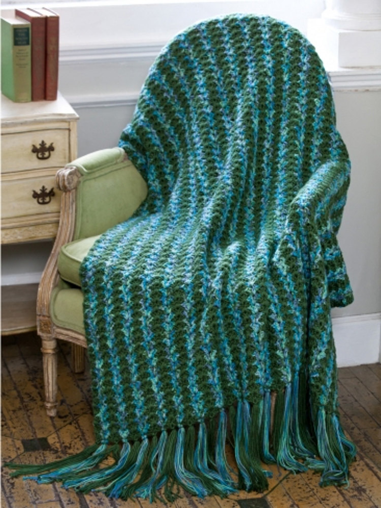 Stately Columns Throw In Caron Simply Soft Amp Simply Soft