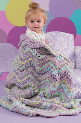 Ripple Baby Blanket in Red Heart Snuggle Bunny - LW4571 - Downloadable PDF