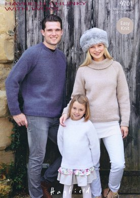 Sweaters in Hayfield Chunky With Wool - 9701