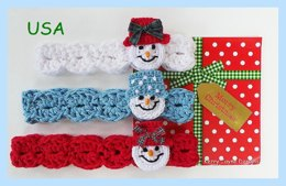 Snowman Headband Pattern USA