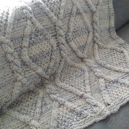776b3d779 Diamonds-In-The-Rough Afghan knitting project by Diane F | LoveKnitting