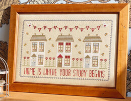 Historical Sampler Company Home Is Where Your Story Begins Cross Stitch Kit