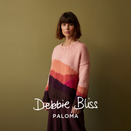 Uluru - Jumper Knitting Pattern For Women in Debbie Bliss Paloma by Debbie Bliss