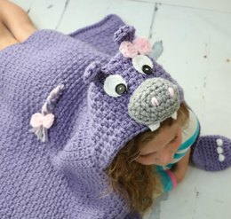 Hooded Hippo Blanket