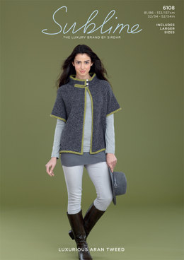 Mock Cape in Sublime Luxurious Aran Tweed - 6108 - Downloadable PDF