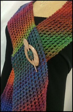 Lace Scarf On The Bias Knitting Pattern By Kathleen Rinks Knitting