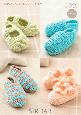Shoes in Sirdar Snuggly 4 Ply 50g - 4509