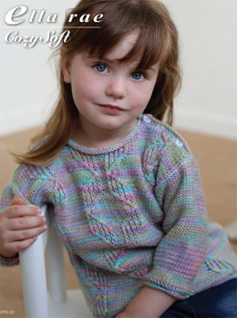 Cable Sweater in Ella Rae Cozy Soft Print - ER11-03