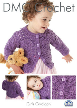 Girls Cardigan in DMC Petra Crochet Cotton Perle No. 3 - 14889L/2