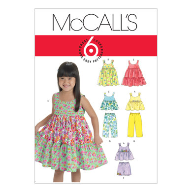 McCall's Toddlers'/Children's Tops, Dresses, Shorts And Pants M6017 - Sewing Pattern