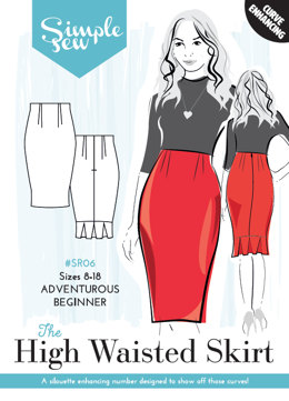 Simple Sew Patterns The High Waisted Skirt SR06 - Sewing Pattern