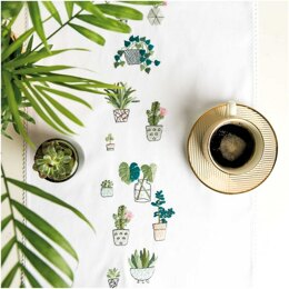 Rico Cacti Table Runner Embroidery Kit (40 x 150 cm)