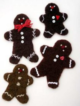 Felted Woolly Gingerbread Cookie