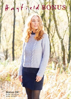 Ladies Sweater in Hayfield Bonus DK - 8285 - Downloadable PDF