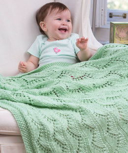 Lace Chevrons Baby Blanket in Red Heart Soft Baby Steps - LW4081EN