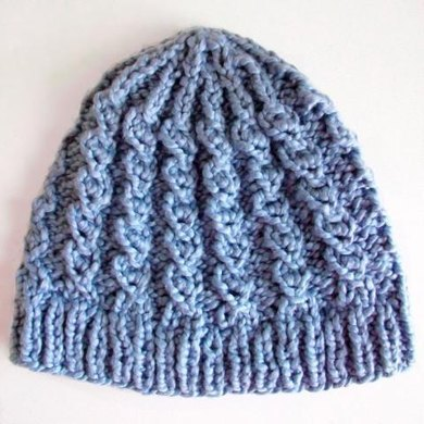 Rustic Twist a mock cable knit hat