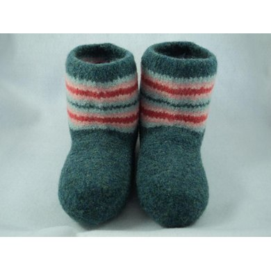 Boot Style Slippers Felted Knit for Women